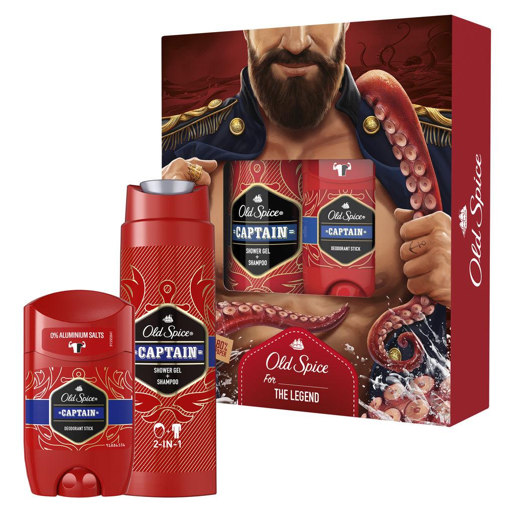 Darilni paket Old Spice, Dark Captain, Božični, moški