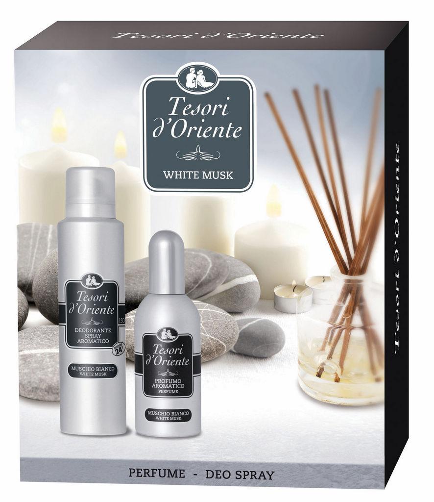Darilni set Tesori D'Oriente, ženski, Toaletna voda 100 ml + parfumski deodorant 150 ml
