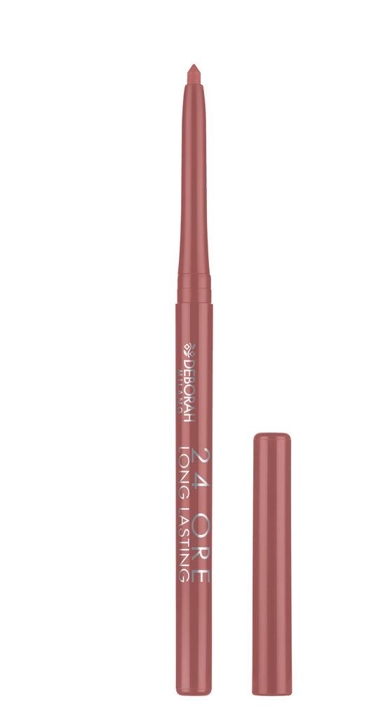 Svinčnik Deborah, 24h long lasting lip pencil, 08