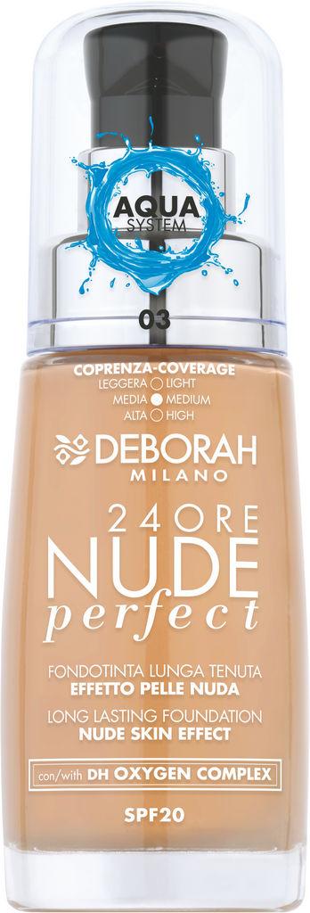 Podlaga Deborah 24H nude perfect, tekoča, 02 Sand, 30ml