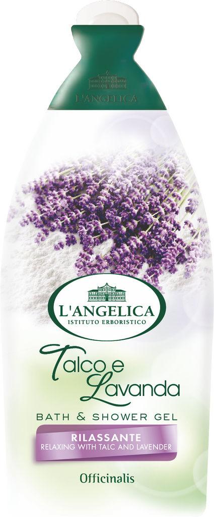 Gel za prhanje&kopel L'Angelica, Officinalis, sivka, 500ml