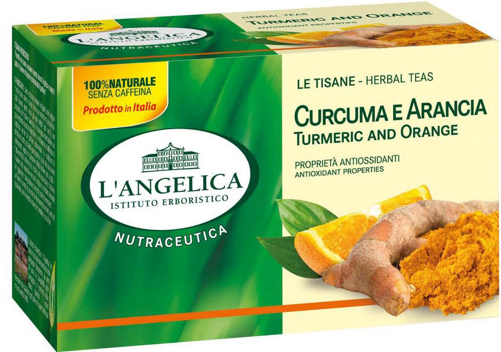 Čaj L'Angelica kurkuma, pomaranča, 90 g