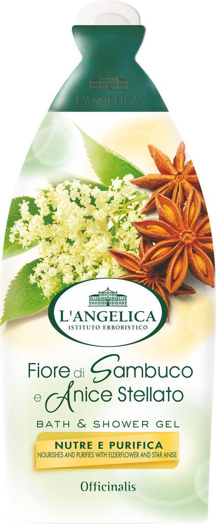Gel za prhanje&kopel L'angelica, Officinalis, ,bezeg&janež,500ml