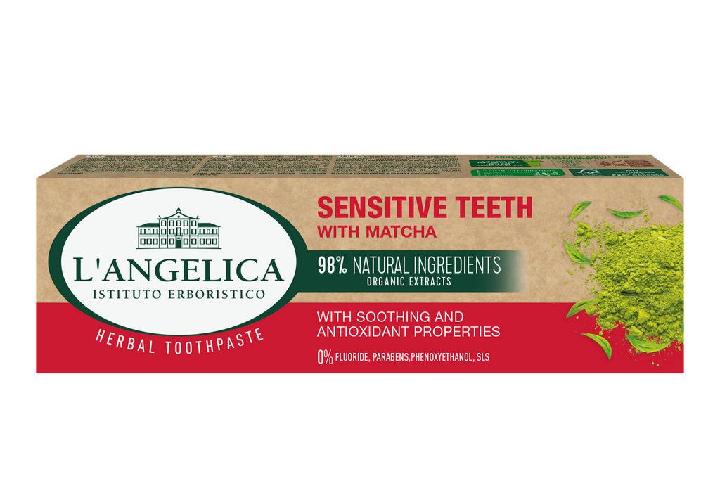 Zobna pasta L'Angelica, občutljivi zobje, Matcha, 75 ml