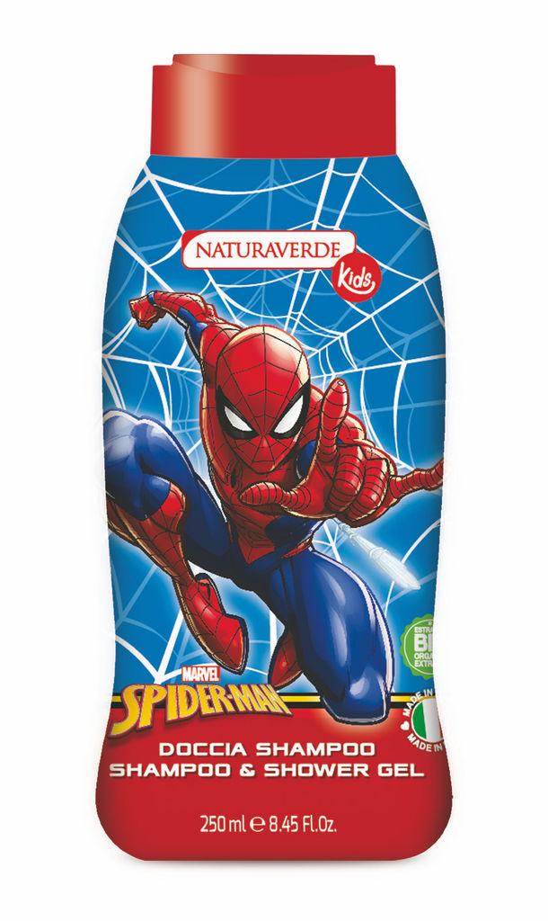 Šampon&tuš gel Naturaverde, Spiderman, 250ml