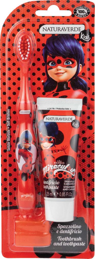 Zobna pasta+zobna ščetka Naturaverde, Ladybug