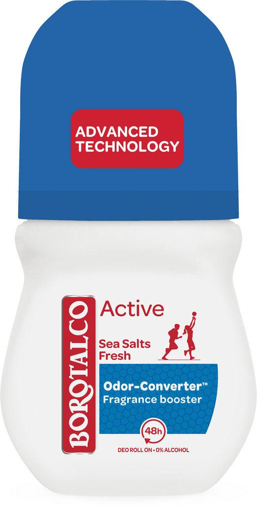 Dezodorant roll-on Borotalco, Active sea salt fresh, 50ml