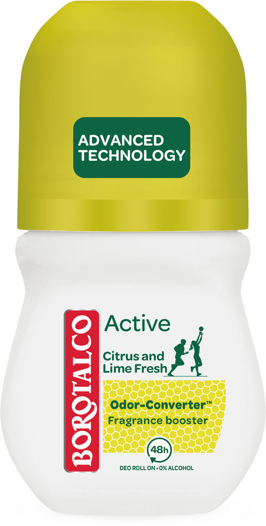 Dezodorant roll-on Borotalco, Active citrus&lime, 50ml