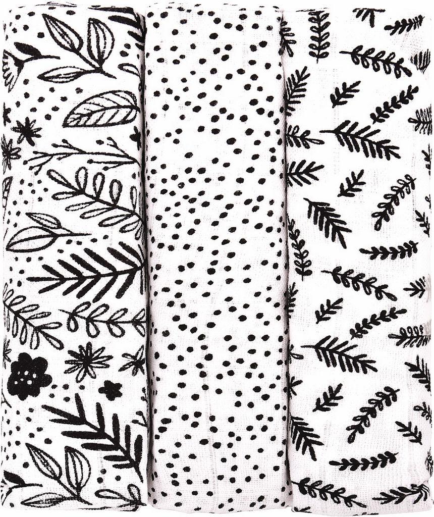 Plenice tetra, Black flowers, 70 x 70 cm, 3/1