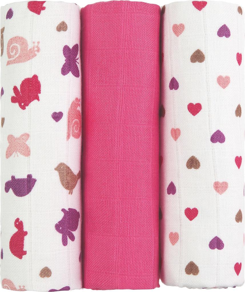 Plenice tetra, Pink flower, 70x70cm, 3/1
