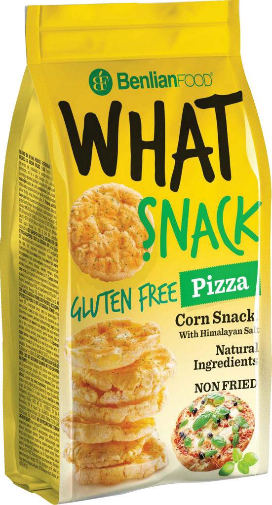 Prigrizek What snack-corn, pizza, brez glutena, 50g