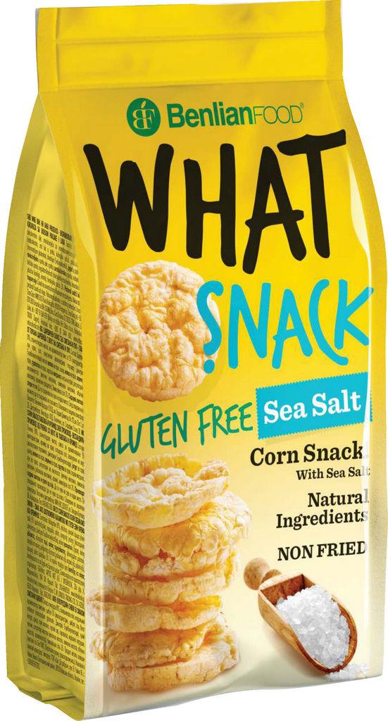 Prigrizek What snack-corn, morska sol, 50 g