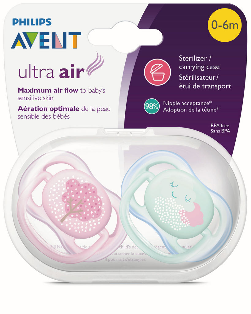 Duda Avent, Ultra air, tol., sil., za deklice 0-6mes.