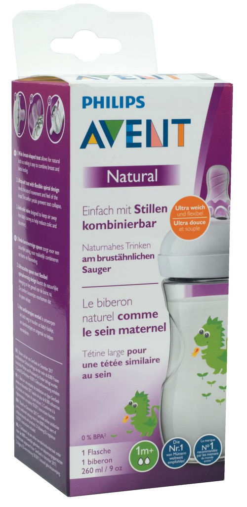 Steklenička Avent, natural, sort., 260ml