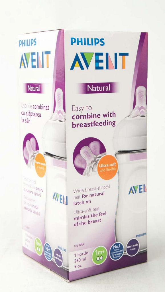 Steklenička Avent, natural, 260ml