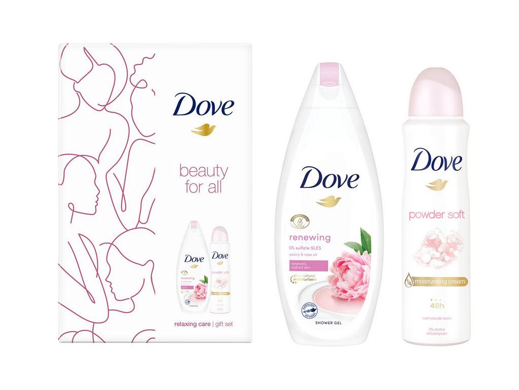 Darilni set Dove, FW Eco2 Renewing, Deo Spray, Gel za prhanje