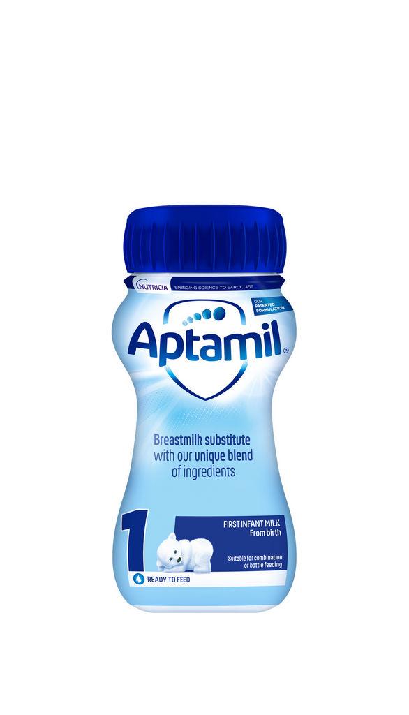 Mleko Aptamil 1, začetno mleko za dojenčke, 200 ml