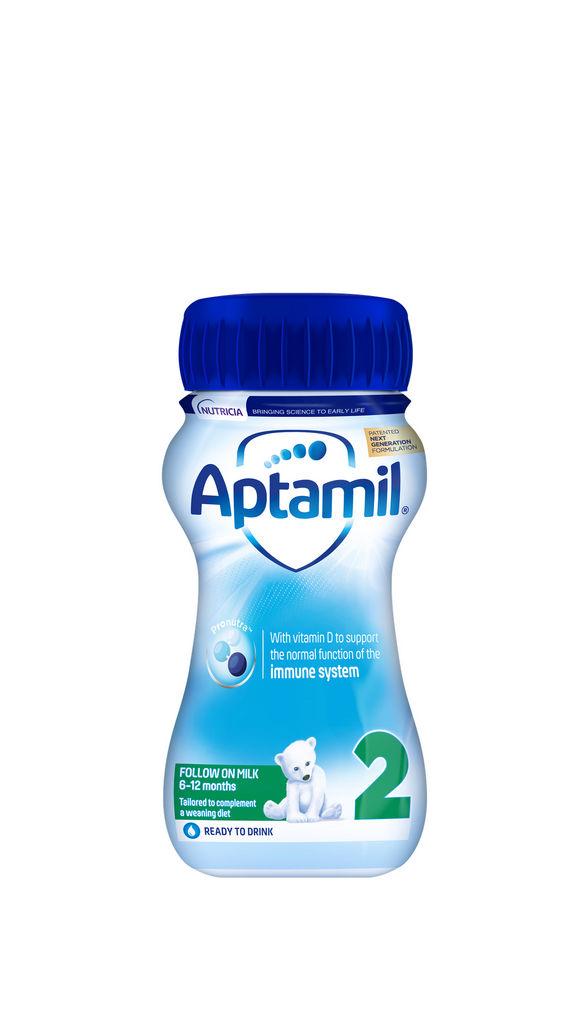 Mleko Aptamil 2 , nadaljevalno mleko za dojenčke po 6. mesecu starosti, 200 ml