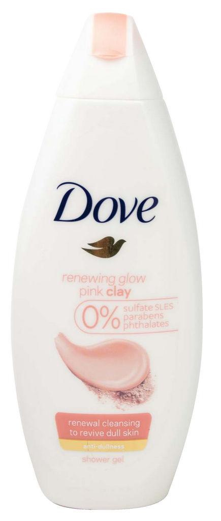 Gel za prhanje Dove, ženski, roza glina, 250ml
