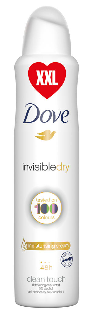 Dezodorant sprej Dove, invisible, dry, xxl, 250ml