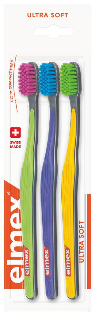 Zobna ščetka Elmex, Ultra soft, 3 pack