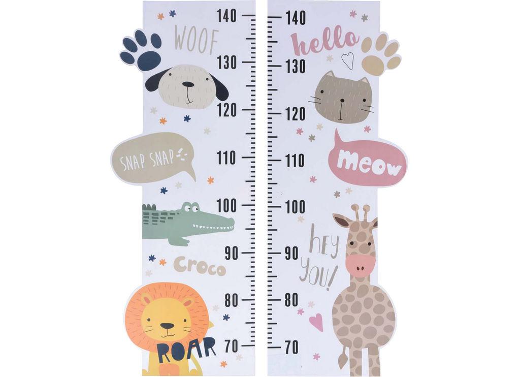 Tabla za merjenje višine,otroška, 24.5×75.5cm