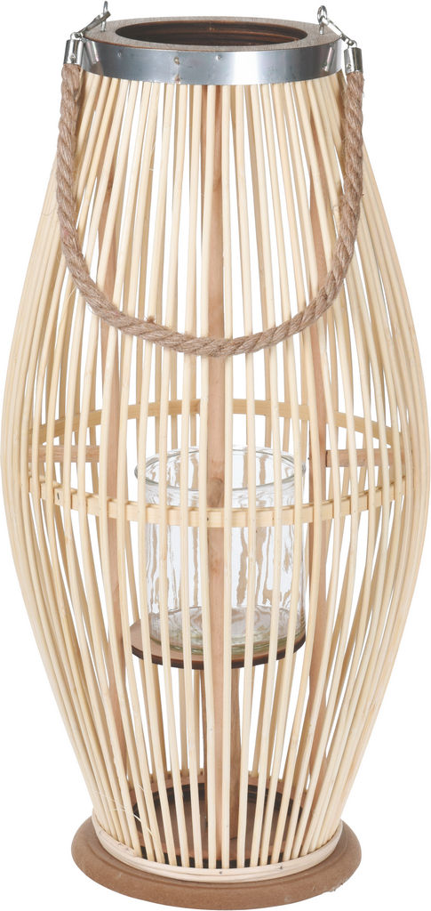 Lanterna bambus natural, 28 x 59 cm
