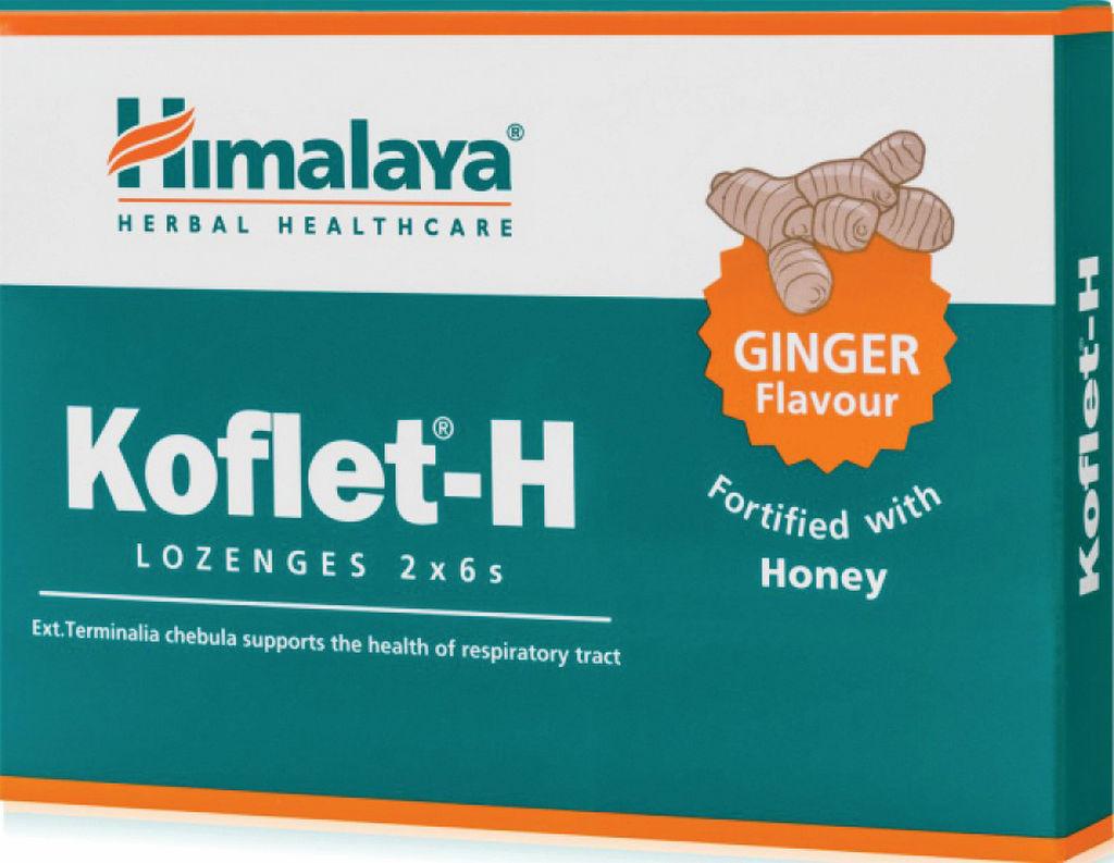Pastile Himalaye za grlo, med in ingver, 33,6g