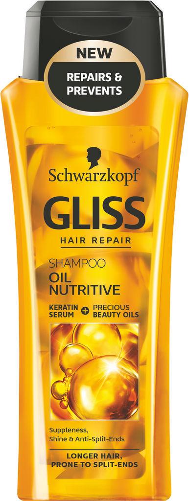 Šampon za lase Gliss, Oil Nutritive, 250 ml