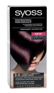 Barva za lase Syoss, temno vijolična, 3-3