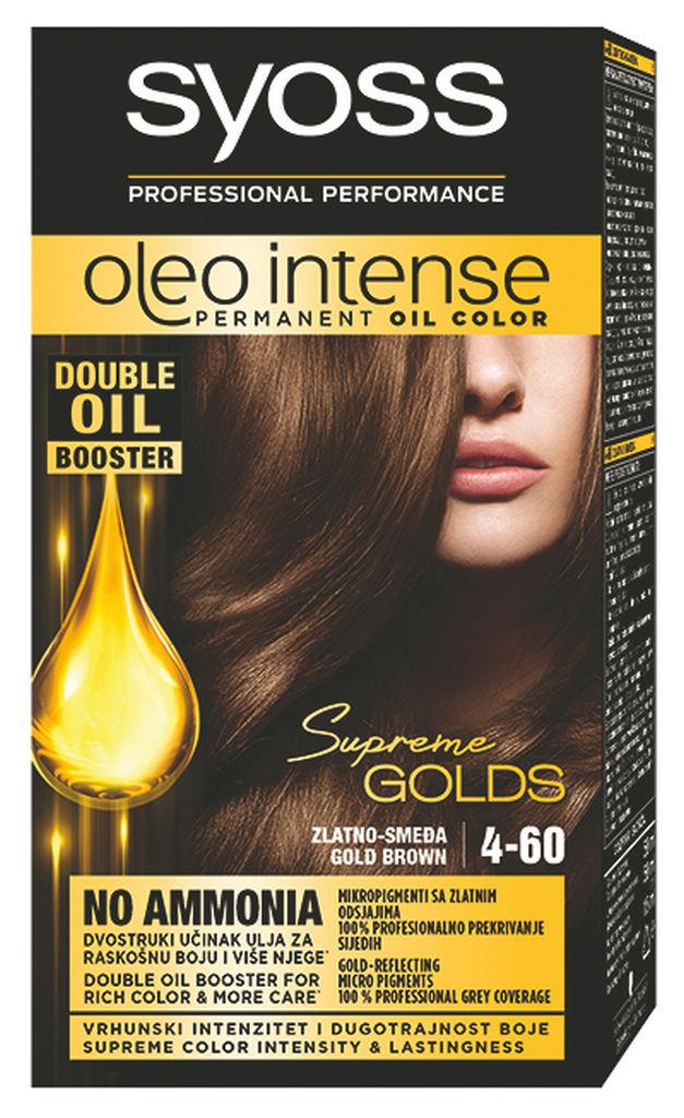 Barva Syoss Oleo, zlato rjava, 4-60