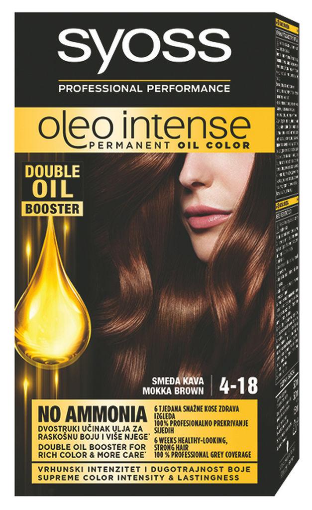 Barva za lase Syoss Oleo Int., rjava kava, 4-18