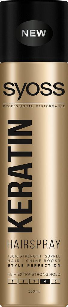 Lak za lase Syoss, Keratin style, 300 ml