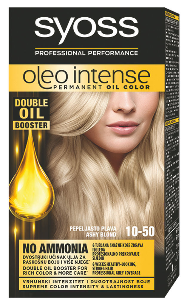 Barva Syoss, Color Oleo, pepel.blond, 10-50