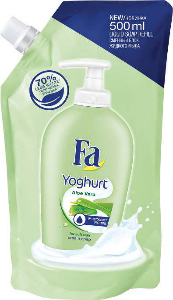 Milo Fa Yoghurt Aloe Vera, tekoče, refil, 500ml