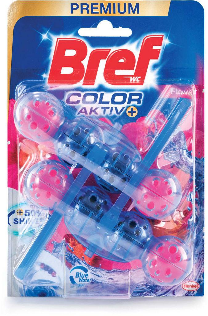 Osvežilec Bref, blue aktiv, fr.flower, 2x50g