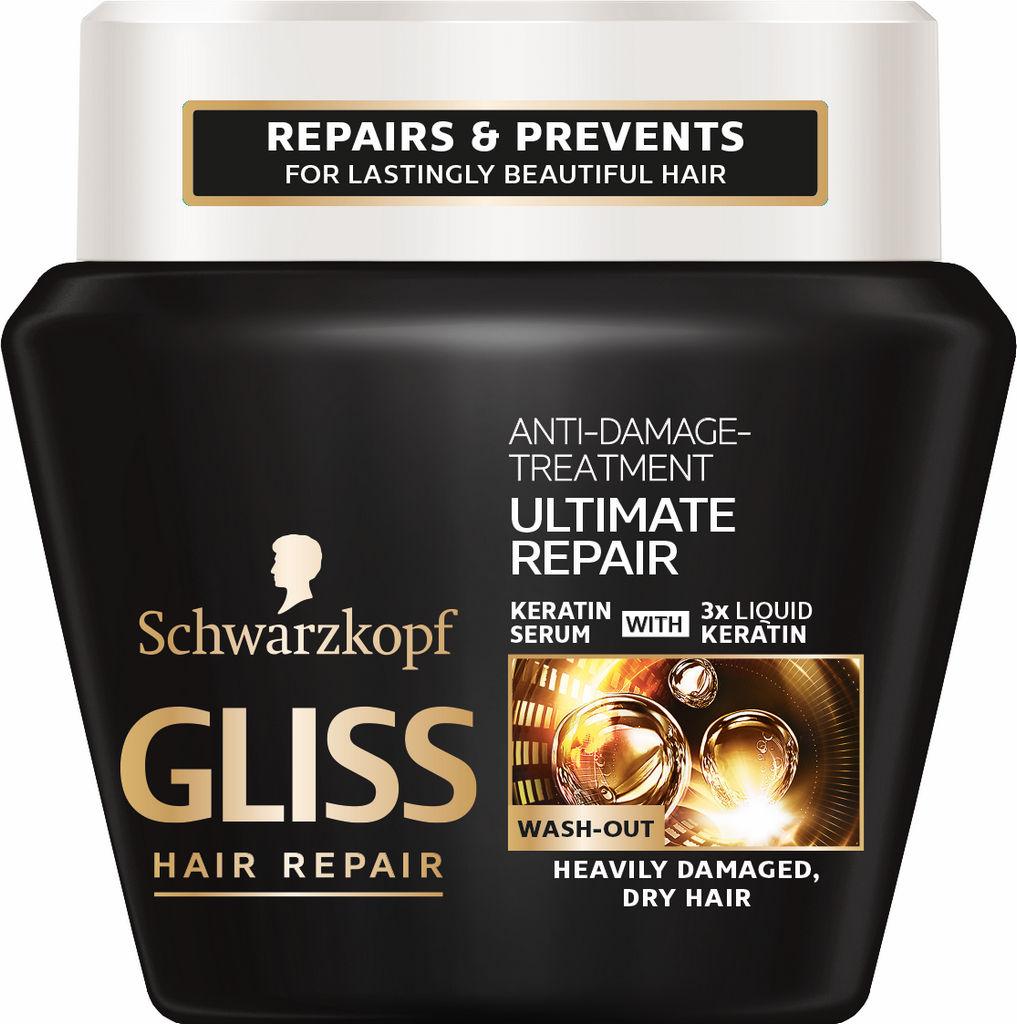 Maska za lase Gliss, Ultimate Repair, 300 ml