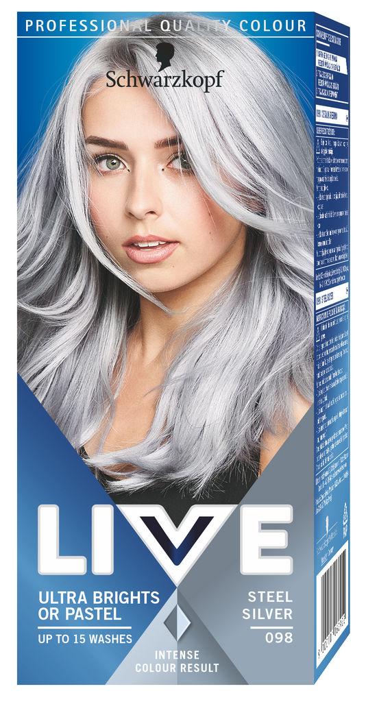 Barva za lase Schwarzkopf Live XXL Ultra 98 srebrna