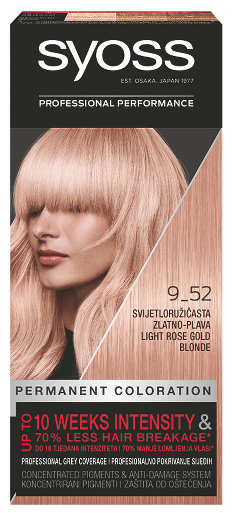 Barva Syoss, gold blond 9-52
