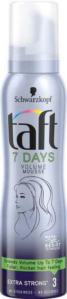 Pena Taft 7days, volume hair, 150ml