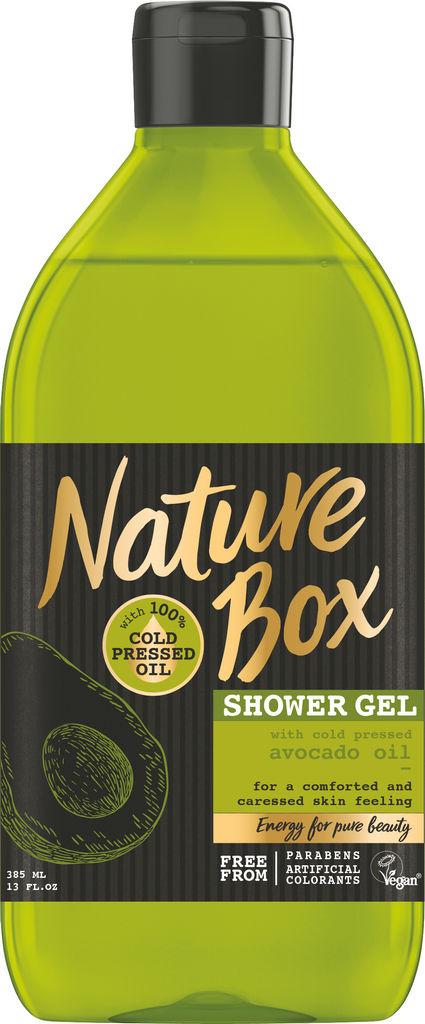 Gel za prhanje Nature Box, avokado, 385ml