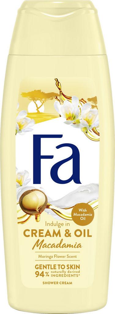 Gel za prhanje Fa cream&oil moringa, 250ml