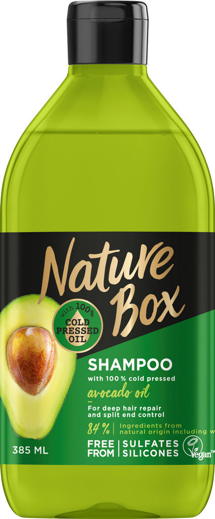 Šampon za lase Nature Box, Avokado, 385 ml