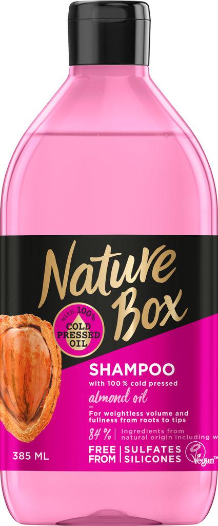 Šampon za lase Nature Box, Mandelj, 385 ml