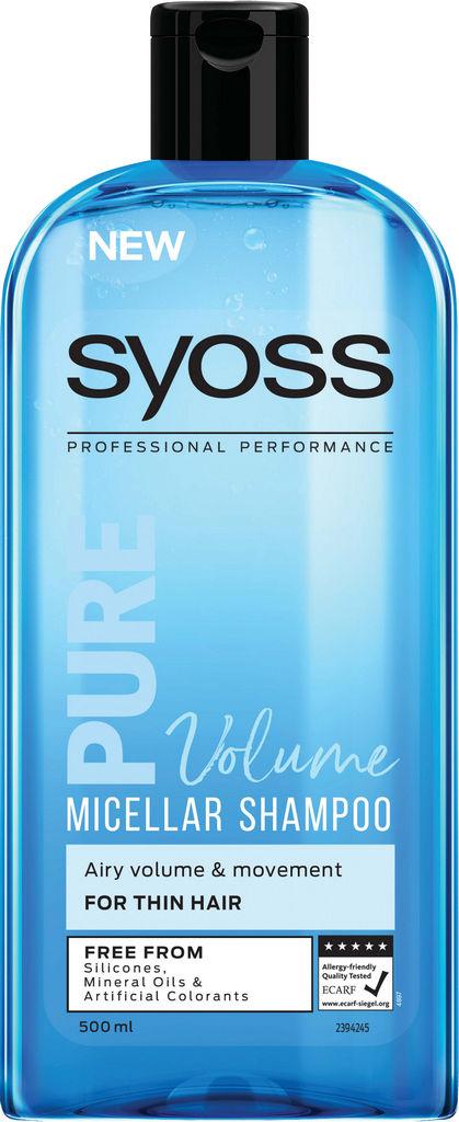 Šampon Syoss, Pure volume micellar, 500ml