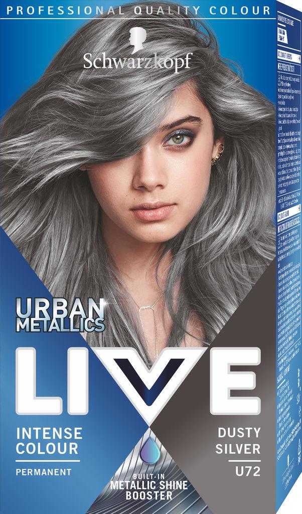 Barva za lase Schwarzkopf Live U72 Dusty Silver