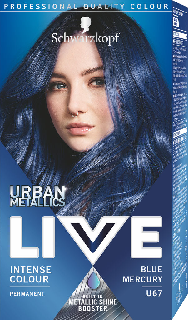 Barva za lase Schwarzkopf Live U67 Blue Mercury