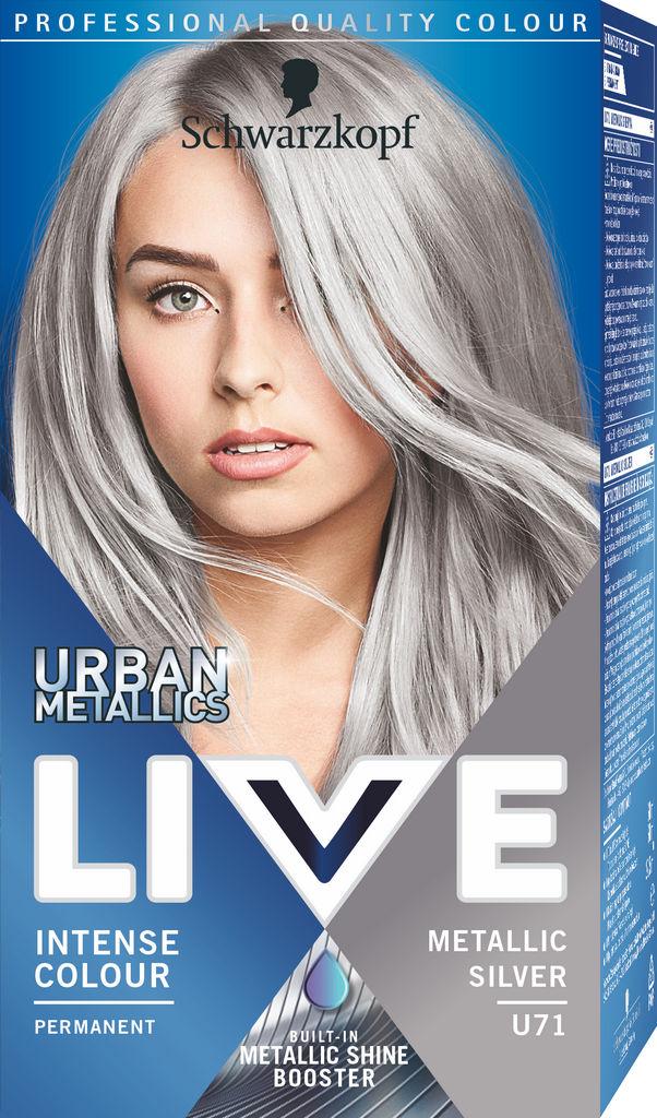 Barva za lase Schwarzkopf Live U71 Metalic Silver
