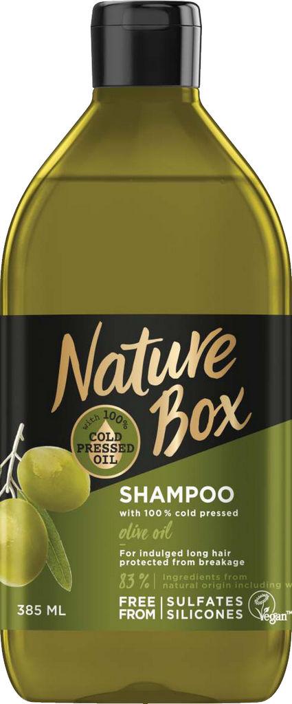 Šampon za lase Nature box, Oliva, 385 ml
