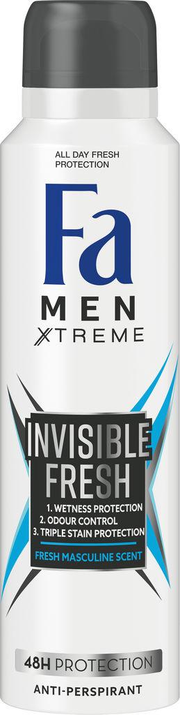 Dezodorant Fa men, Xtreme invisible fresh, 150ml